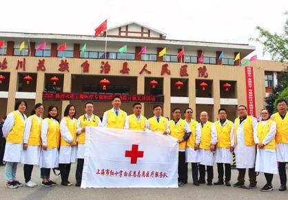 上海市红十字白求恩志愿医疗服务队赴北川义诊